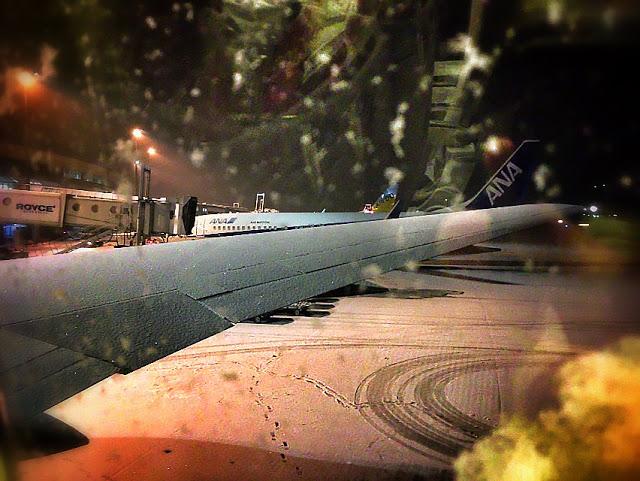 機内からの雪景色